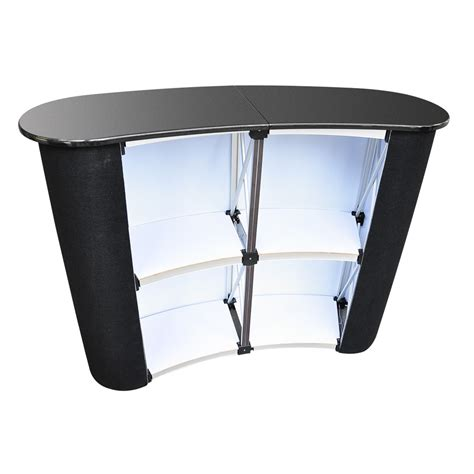 trade tables pop up podium counter table promotion retail speech bag