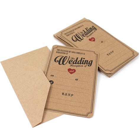 ready wedding invitation cards vintage affair evening wedding invitations 10 pack