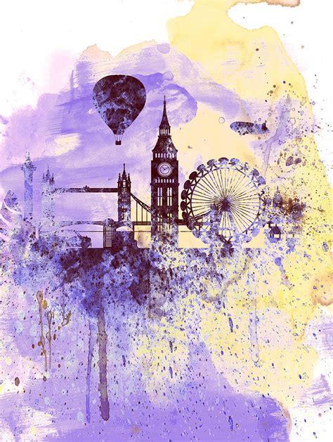 tattoo artists london watercolour london watercolor skyline painting by naxart studio