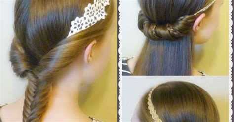 quick easy princess roll with hairband 3 quick and easy hairstyles for school using headbands