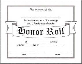 Honor Roll Certificate Templates by Certificates For Teachers Honor Roll Awards And