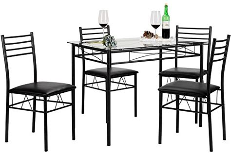 vecelo dining table with 4 chairs black vecelo dining table with 4 chairs black diningbee