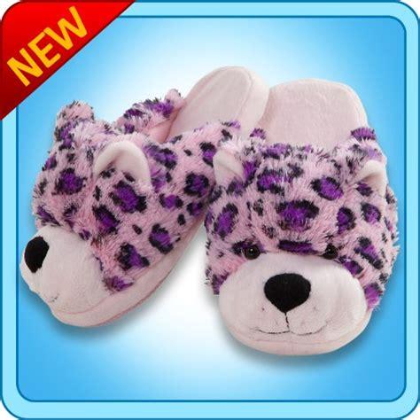 pillow pet slippers genuine ultra soft my pillow pet leopard slipper small 15 99