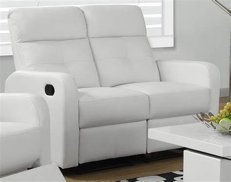 white leather reclining loveseat 85wh 2 white bonded leather reclining loveseat from