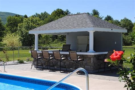 pool houses with bars 10 x 14 hip with bar pool house this poolhouse with bar