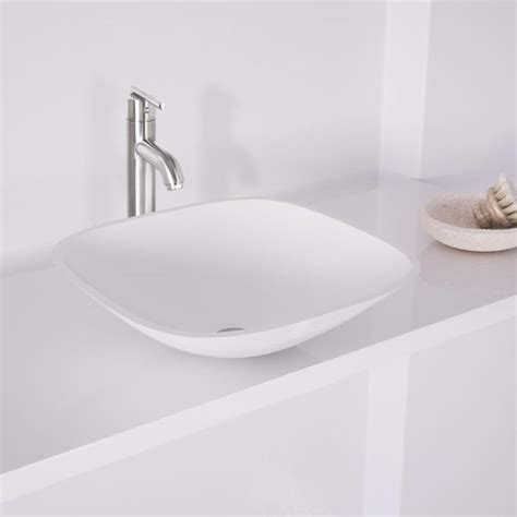vigo glass vessel sinks shop vigo vessel and faucet set white tempered glass