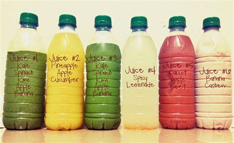 Juice Recept Detox by Juice Cleanse Recipe Dishmaps