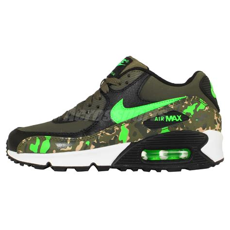 camo sneakers nike nike air max 90 prem ltr gs green camo youth boys