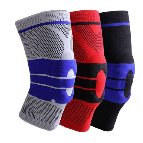 Supports Aolikes 1pcs Wristbands Bandage Safety Knee Pads silica gel protective gear basketball football sport safety kneepad knee pads