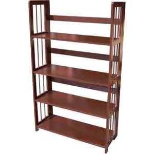 3 Shelf Folding Bookcase 4 Tier Folding Bookcase Espresso Walmart Com