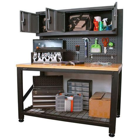 bench cabinet storage best 25 steel workbench ideas on pinterest