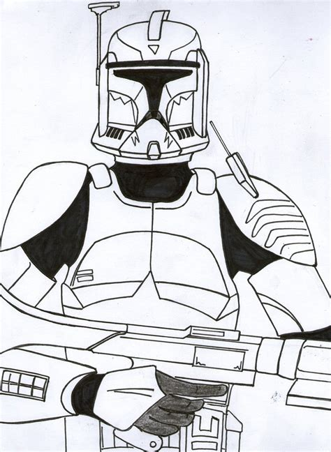 coloring pages commander commander wolffe phase i teaser unfinished by funtimes