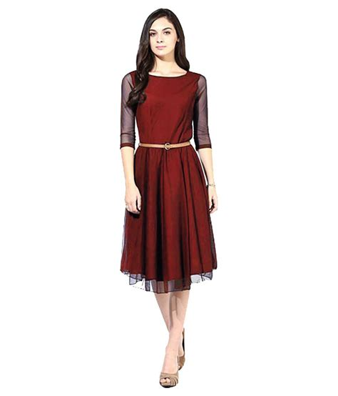 Fashion Maroon addy fashion maroon georgette dresses buy addy fashion