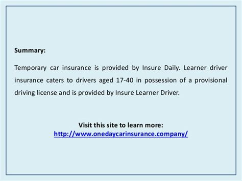 Best Learner Driver Insurance by Learner Driver Car Insurance Insurance For Provisional