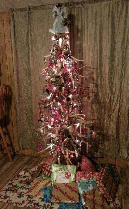 antler cowboy christmas tree christmas stuff pinterest
