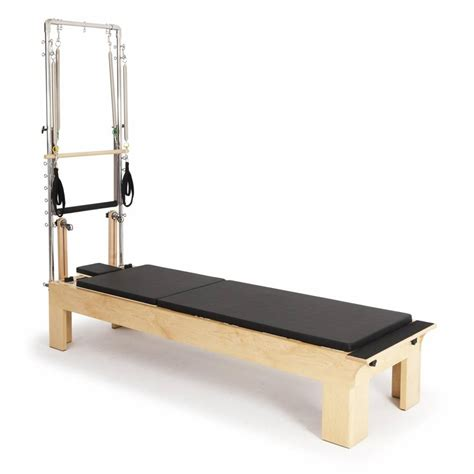 wooden exercise bench pilates wood reformer with tower elina pilates