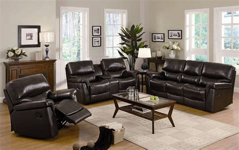 Leather Sofa Recliner Set Plushemisphere Collection Of Reclining Sofa Sets