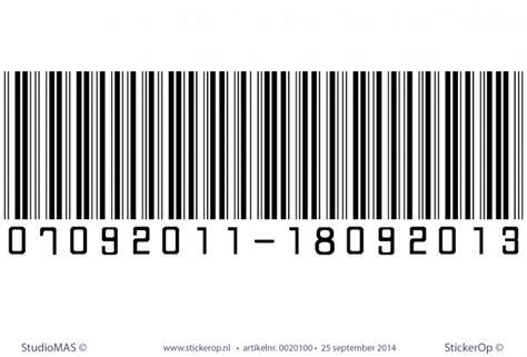 muurstickers thema decoratie eigen barcode
