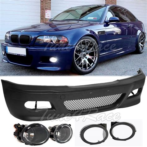 Bmw E46 1999 2002 Clear Type Side L for 99 05 bmw e46 3 series 4dr m3 style front bumper clear fog lights sedan ebay
