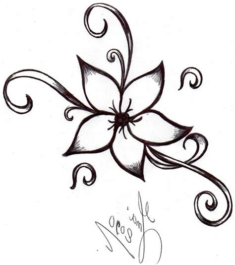 design flower pencil simple flower designs pencil drawing drawing sketch picture