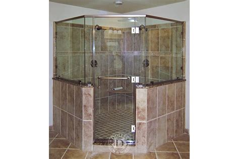 Towel Bars For Glass Shower Doors This Glass Shower Door Has Neo Angle Shower Frameless Shower Doors Brushed Nickel Finish