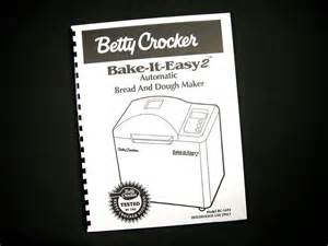 Highest Rated Recipes On The Web by Betty Crocker Bc 1692 Bread Maker Machine Instruction