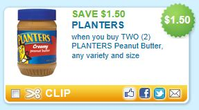 planters peanut butter coupon 2 02 for a 16 oz jar at