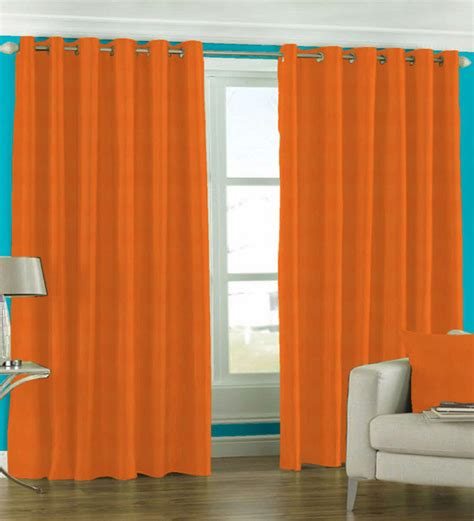 orange curtains orange window curtains skipper solid bright orange