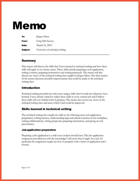 basic memo format apa proposal