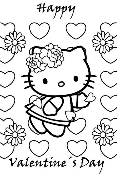hello kitty coloring pages for valentines day free hello kitty coloring pages valentine the color panda