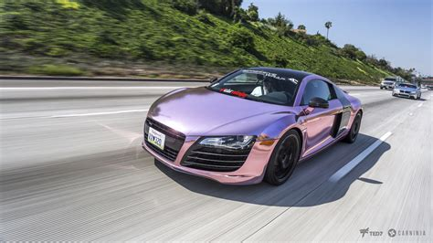 white and pink audi pink chrome audi r8 i must say this is some