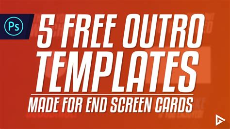 end card template 2017 5 free end screen outro templates