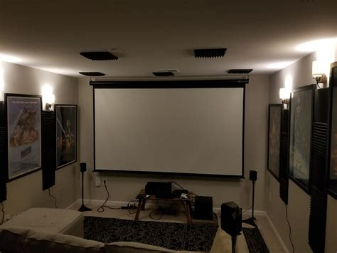 apartment home theater set      cable