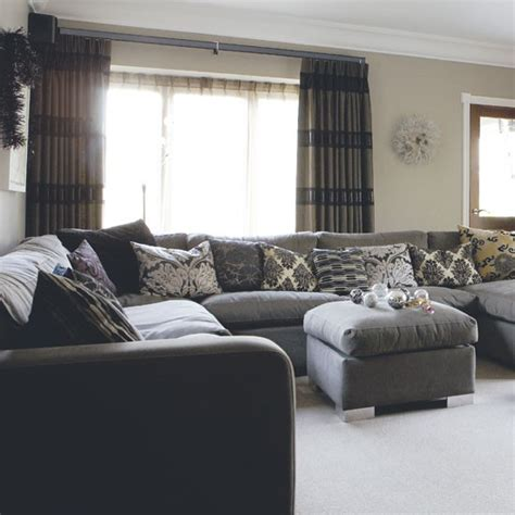 Ornate fabrics mixed with contemporary furniture and accessories