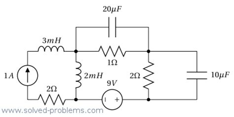 energy in inductor and capacitor total energy stored circuit with capacitors and inductors solved problems