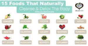 15 foods that naturally cleanse and detox the body