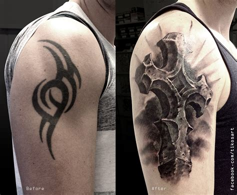 cross cover up tattoos cover up with a cross by tikos on deviantart