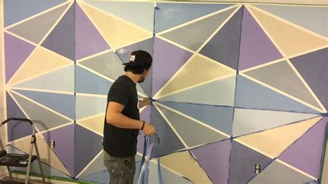 paint design lines ltd geometric wall paint youtube
