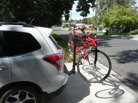 honda element rockymounts tandem tailpipe bike rack for