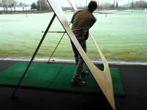 make a golf swing plane trainer golf plane board demo avi youtube