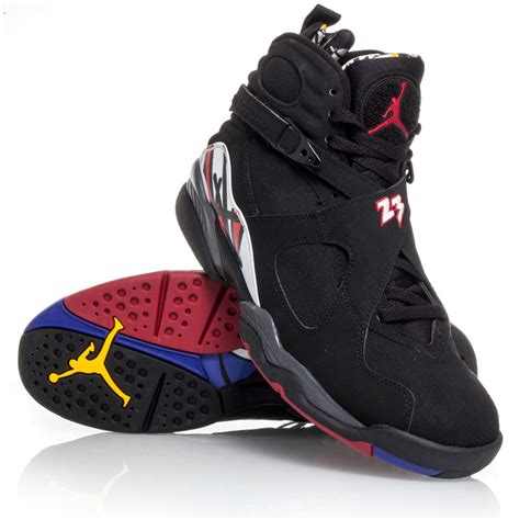 eights basketball shoes air 8 retro mens basketball shoes black white