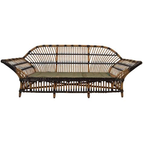 wicker sofas for sale art deco wicker sofa for sale at 1stdibs