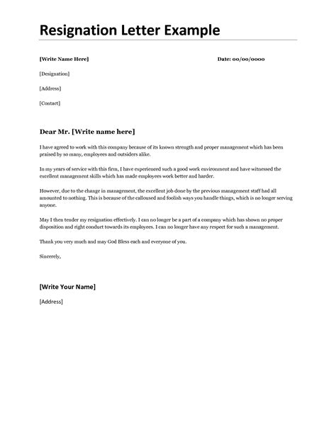 best photos of proper resignation letter format best resignation letter sles resignation