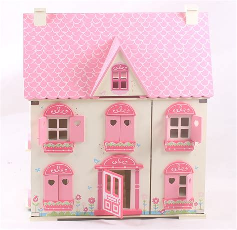 traditional dolls house traditional pink wooden doll house with furniture buy wooden doll house pink wooden