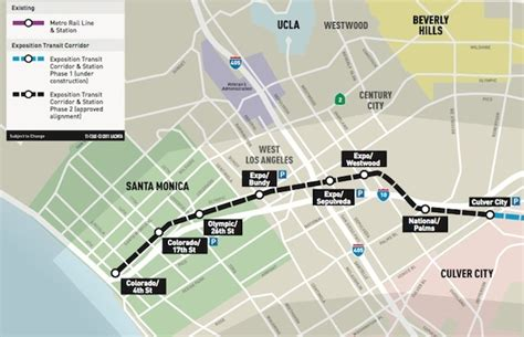 expo line map map la metro offers free rides may 20 21 for expo line extension grand opening 89 3 kpcc