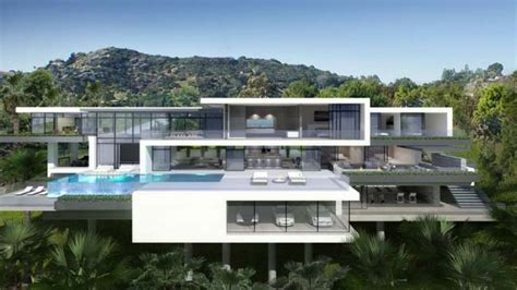 modern mansion two luxury and modern villas in los angeles