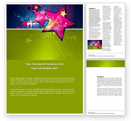 graphic design word template 03537 poweredtemplate com