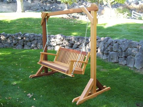 how to build a freestanding swing outdoor wooden swing plans wooden a frame swing plans diy