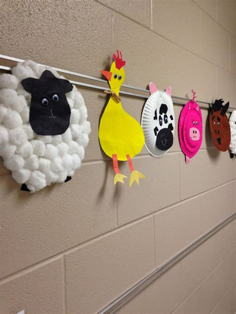 easy animal crafts for simple farm animal crafts school