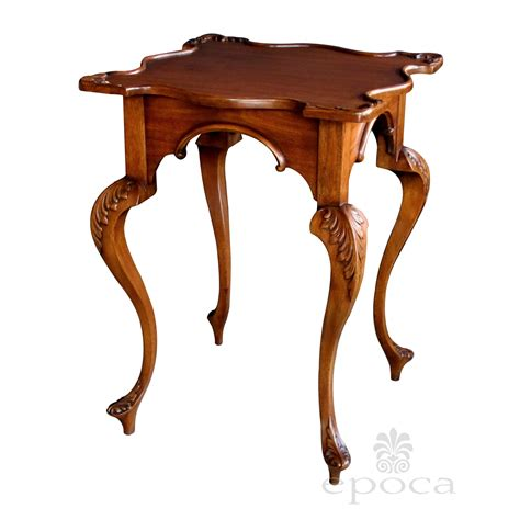 Table Top Jewelry Armoire A Graceful English George Ii Style Carved Mahogany Side
